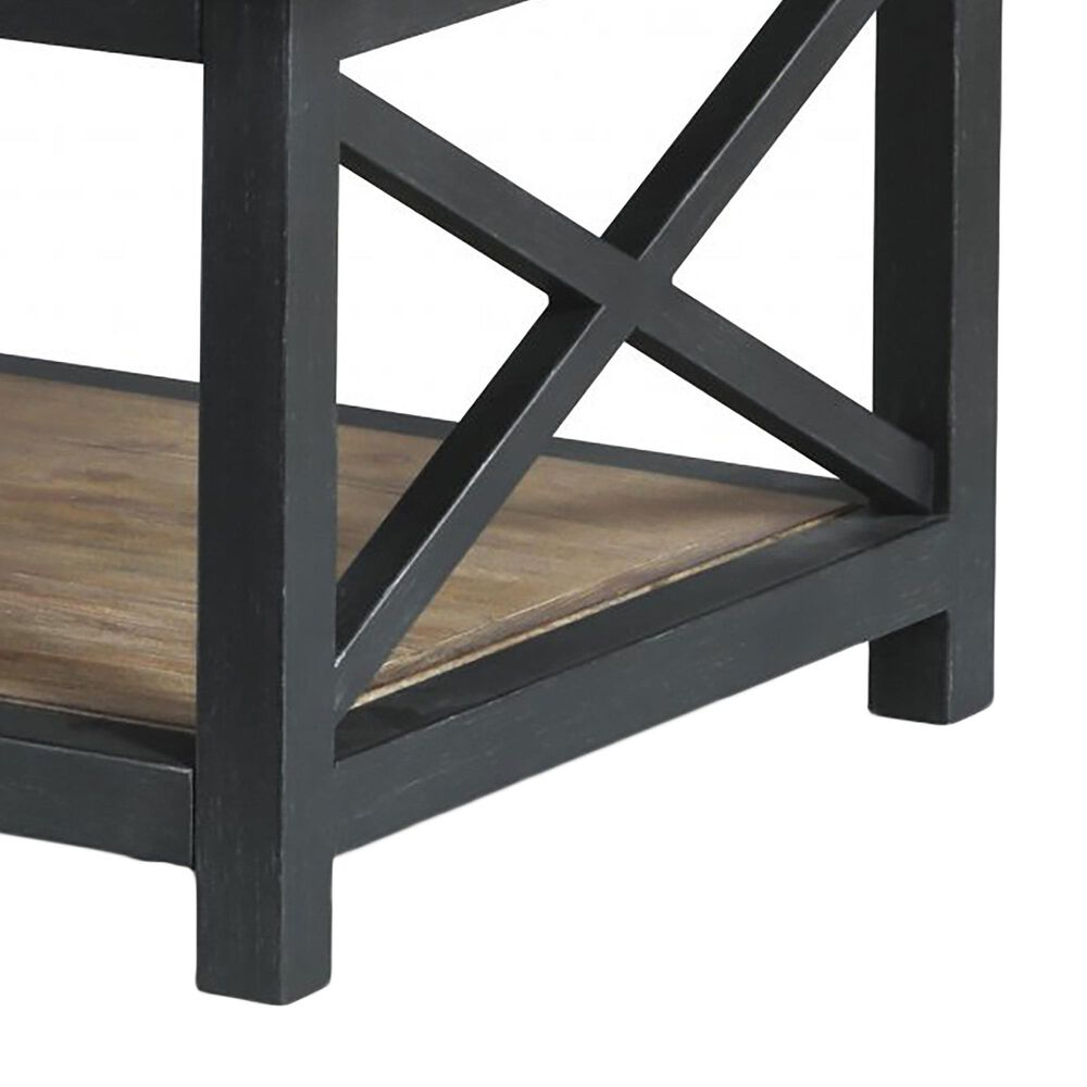 Flexsteel Carpenter Rectangular Coffee Table in Rustic Light Brown, , large