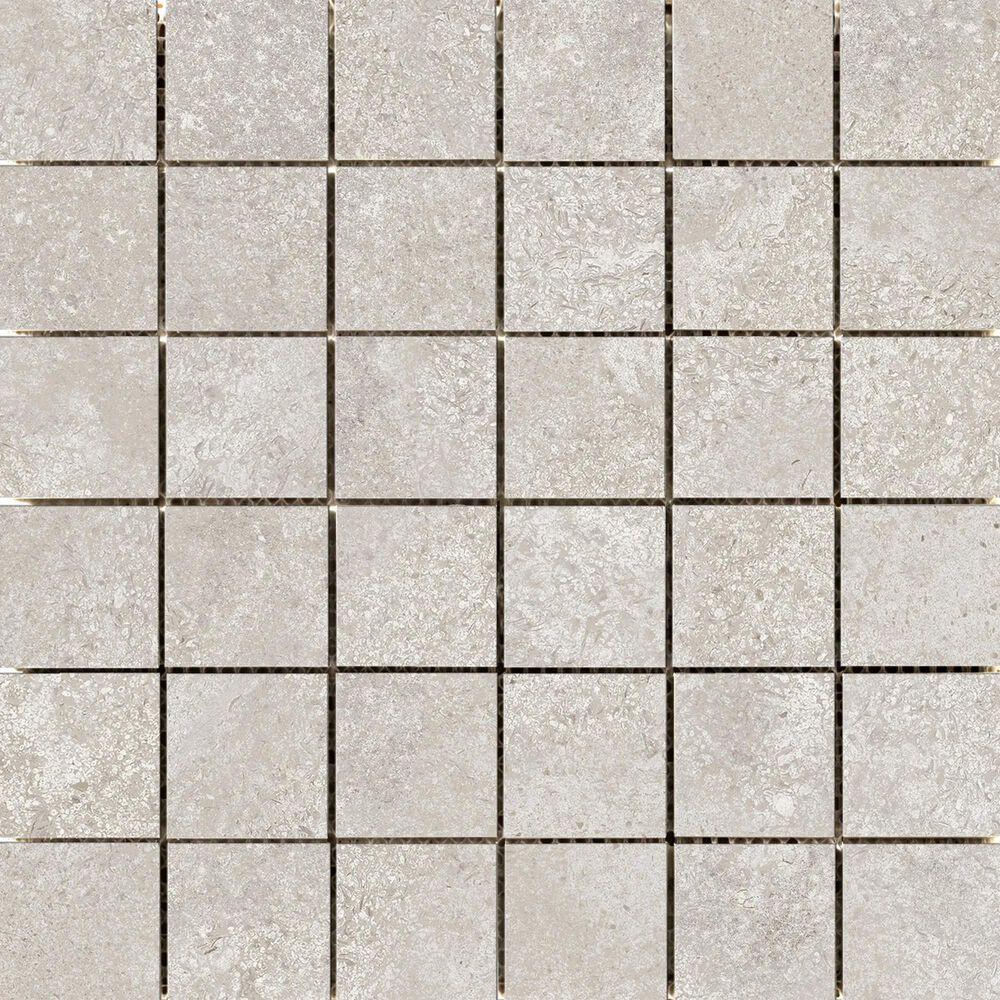 "Emser Topanga Greige 2"" x 2"" Square on 12"" x 12"" Ceramic Mosaic Sheet, , large"