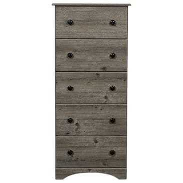 Lemoore 5 Drawer Quality Chest in Weathered Grey Ash, , large