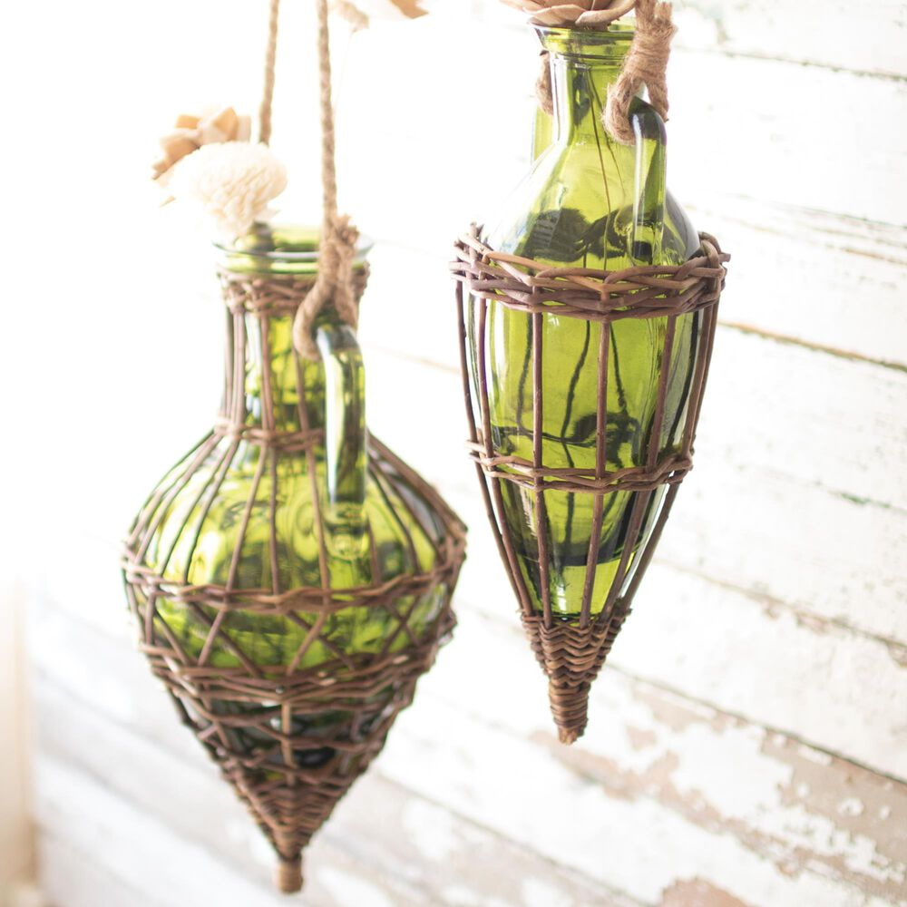 Kalalou Bud Vase in Green (Set of 2), , large