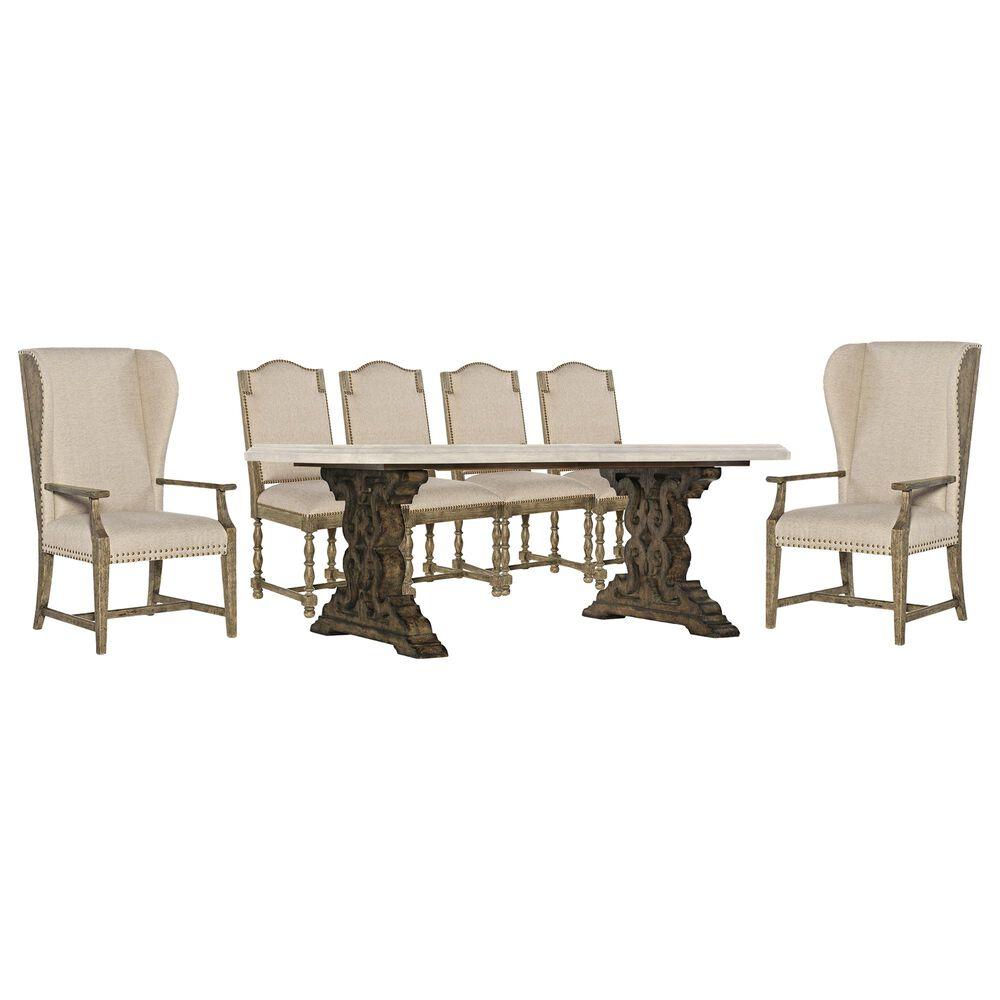 Hooker Furniture La Grange 7-Piece Dining Set in Barnwood, , large