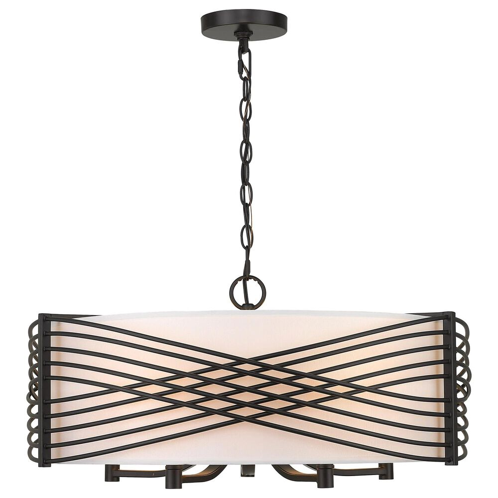Golden Lighting Zara 5-Light Chandelier in Matte Black, , large