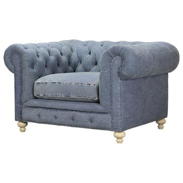 Vintage Furnishings Greenwich Chair in Desi Blue Denim, , large