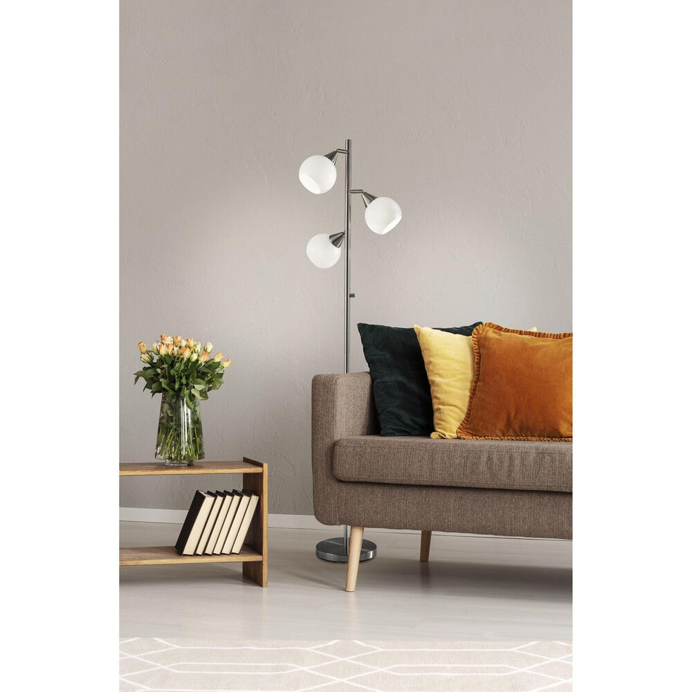 Adesso Phillip Tree Lamp in Brushed Steel, , large