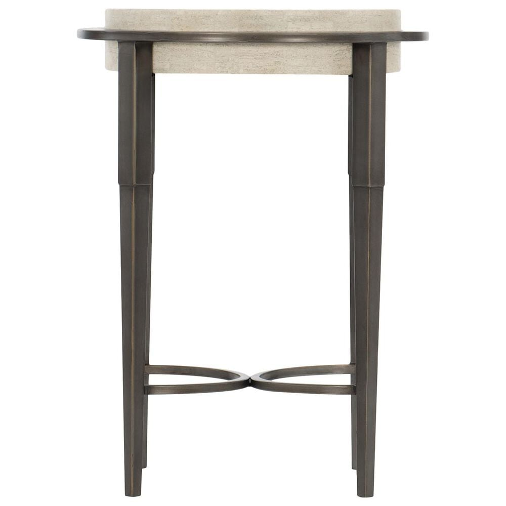 Bernhardt Barclay Round Drink Table in Antique Pewter, , large