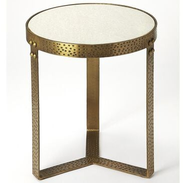 Butler Elton End Table in Gold Metal and Marble, , large