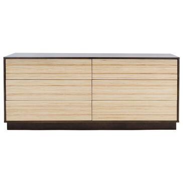 Safavieh Stassie 6 Drawer Dresser in Oak/Black, , large