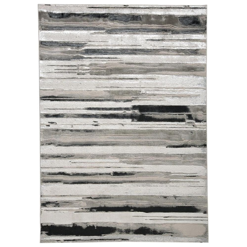 Feizy Rugs Micah 3049F 5' x 8' Silver Area Rug, , large