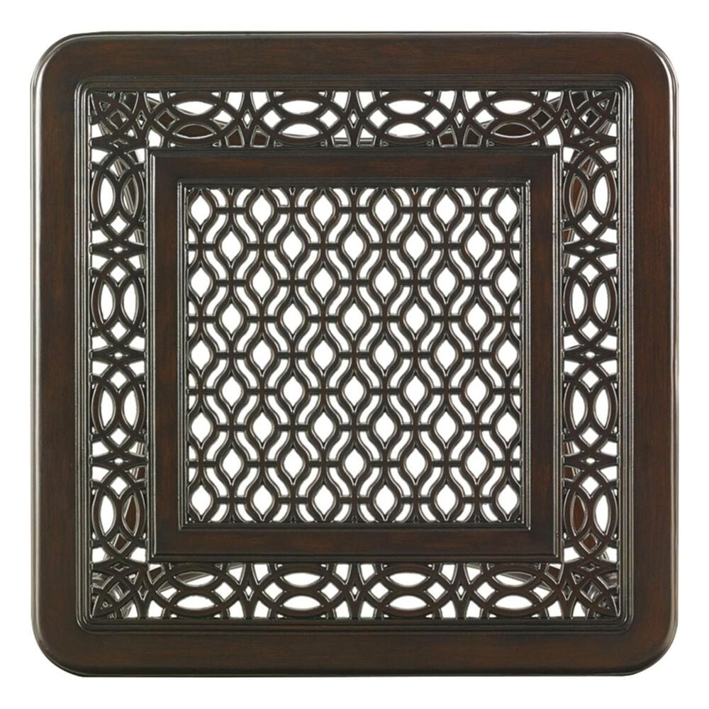 Tommy Bahama Outdoor Living Black Sands Square End Table in Deep Umber, , large