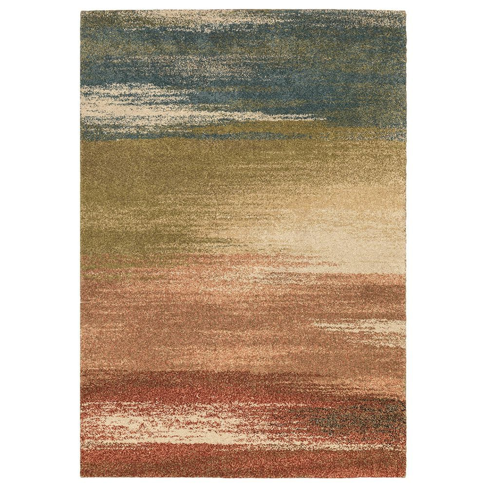 """Oriental Weavers Kendall Abstract 5570X 6'7"""" x 9'6"""" Multicolor Area Rug, , large"""