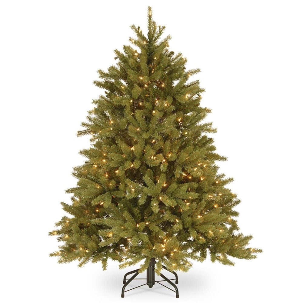 """National Tree 4.5"""" Feel Real Fir Tree with 350 White Lights, , large"""