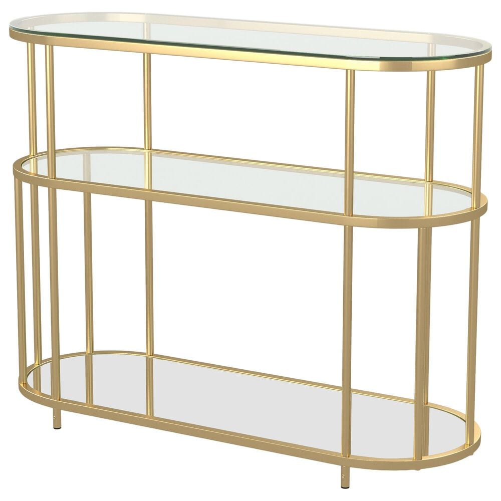 Furniture of America Vang Console Table in Gold, , large