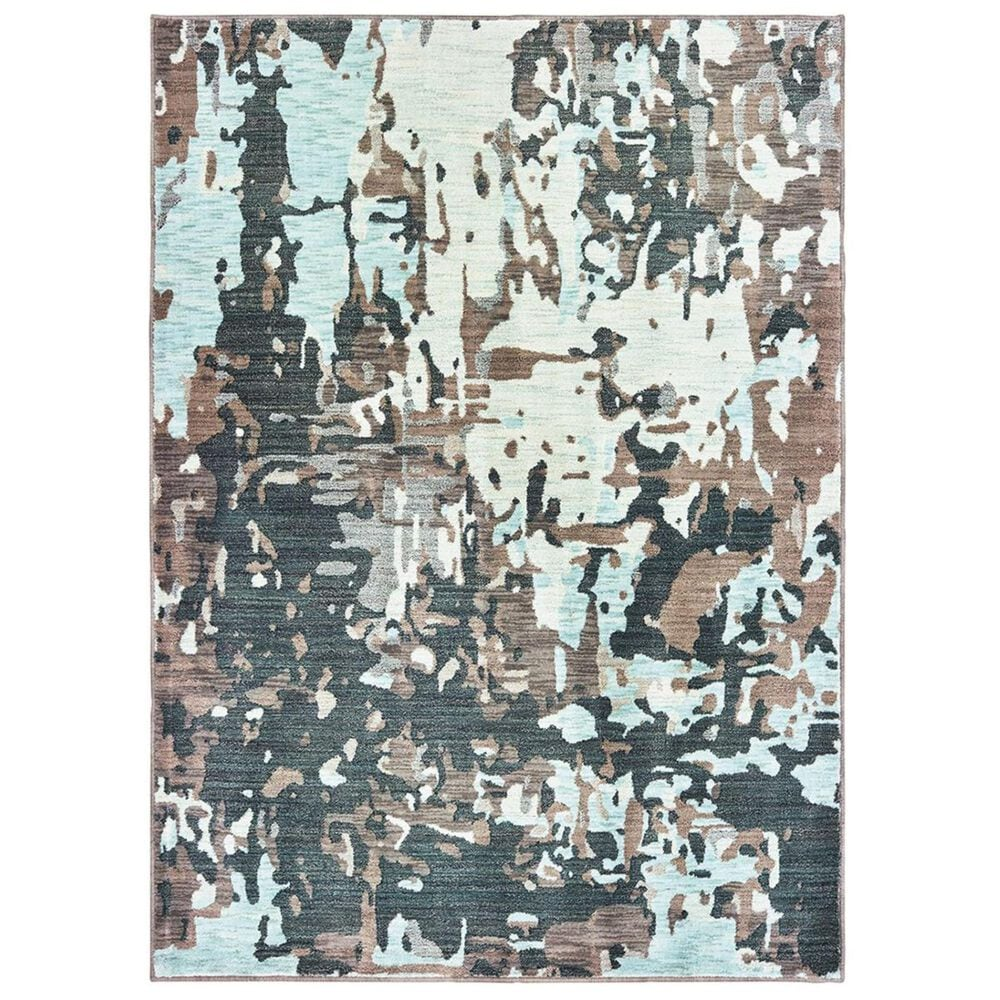 "Oriental Weavers Sedona 8957G 3""10"" x 5""5"" Grey and Blue Area Rug, , large"