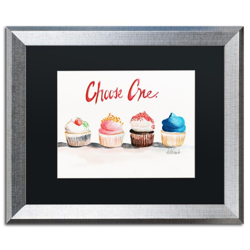 """Timberlake 16"""" x 20"""" Choose One with Words Matted Framed Art in Silver, , large"""