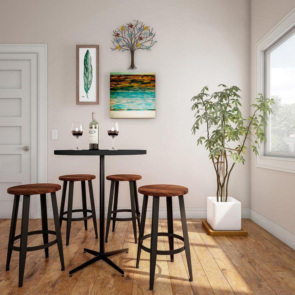 Timberlake Lavish Home Counter Height Stool in Dark Walnut (Set of 2), , large