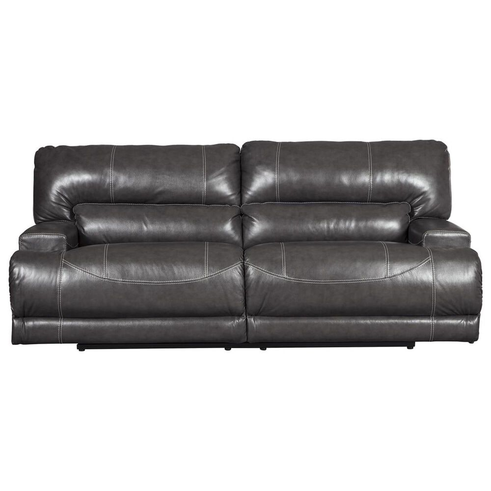 Signature Design by Ashley McCaskill 2-Seat Power Reclining Sofa in Gray, , large