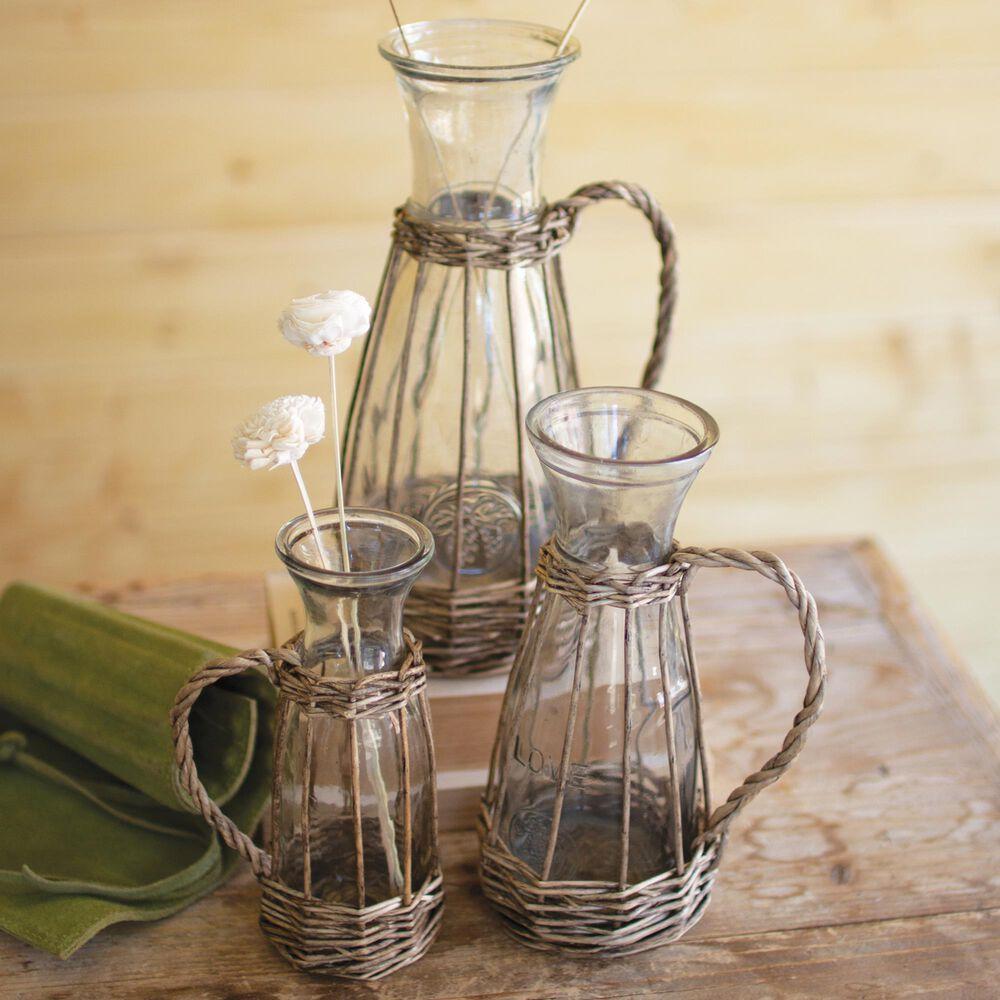 Kalalou Glass Vases (Set of 3), , large