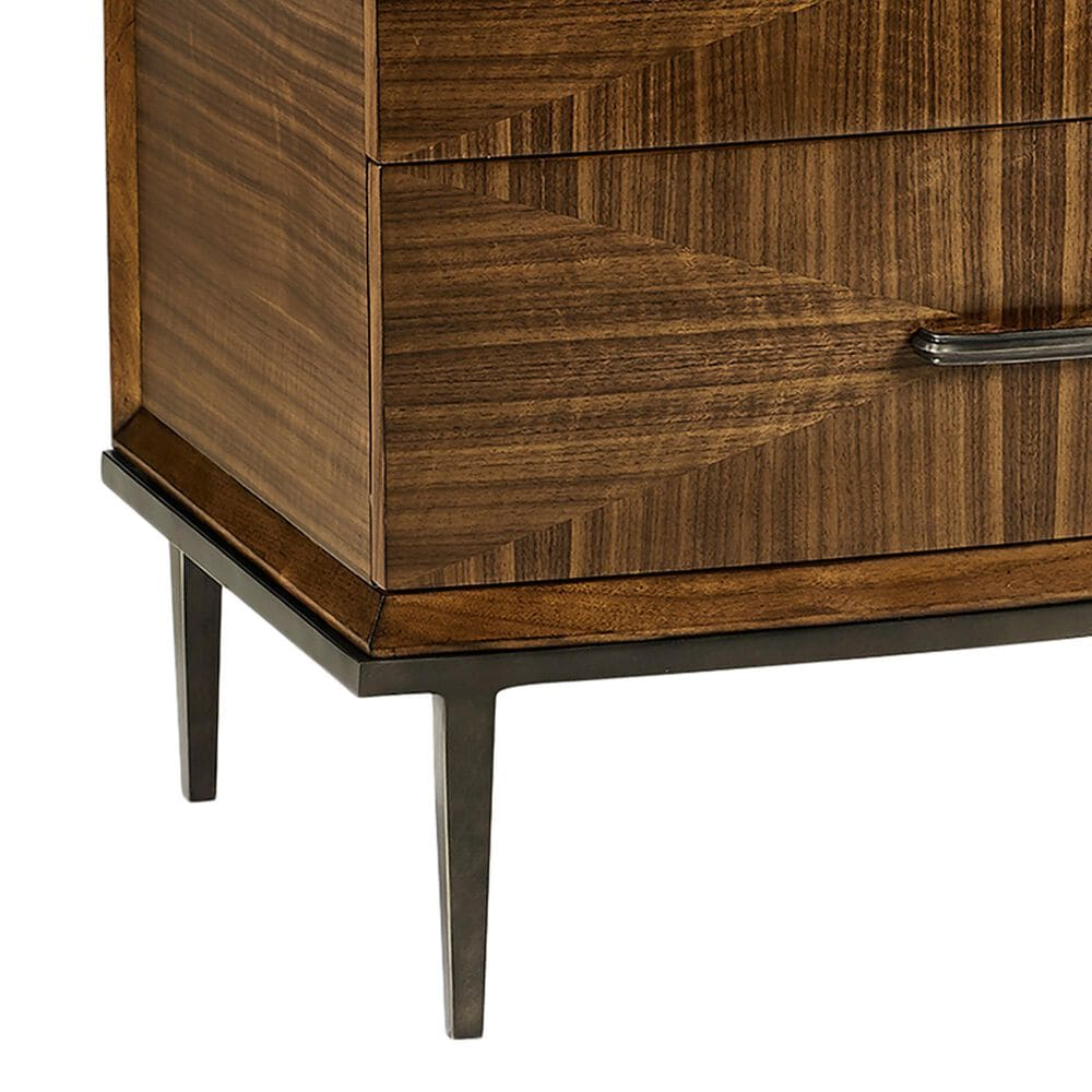 Jonathan Charles Fine Furniture Toulouse Bedside Chest in Walnut, , large