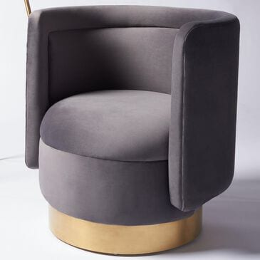 Safavieh Brynlee Accent Chair in Slate Grey and Gold, , large
