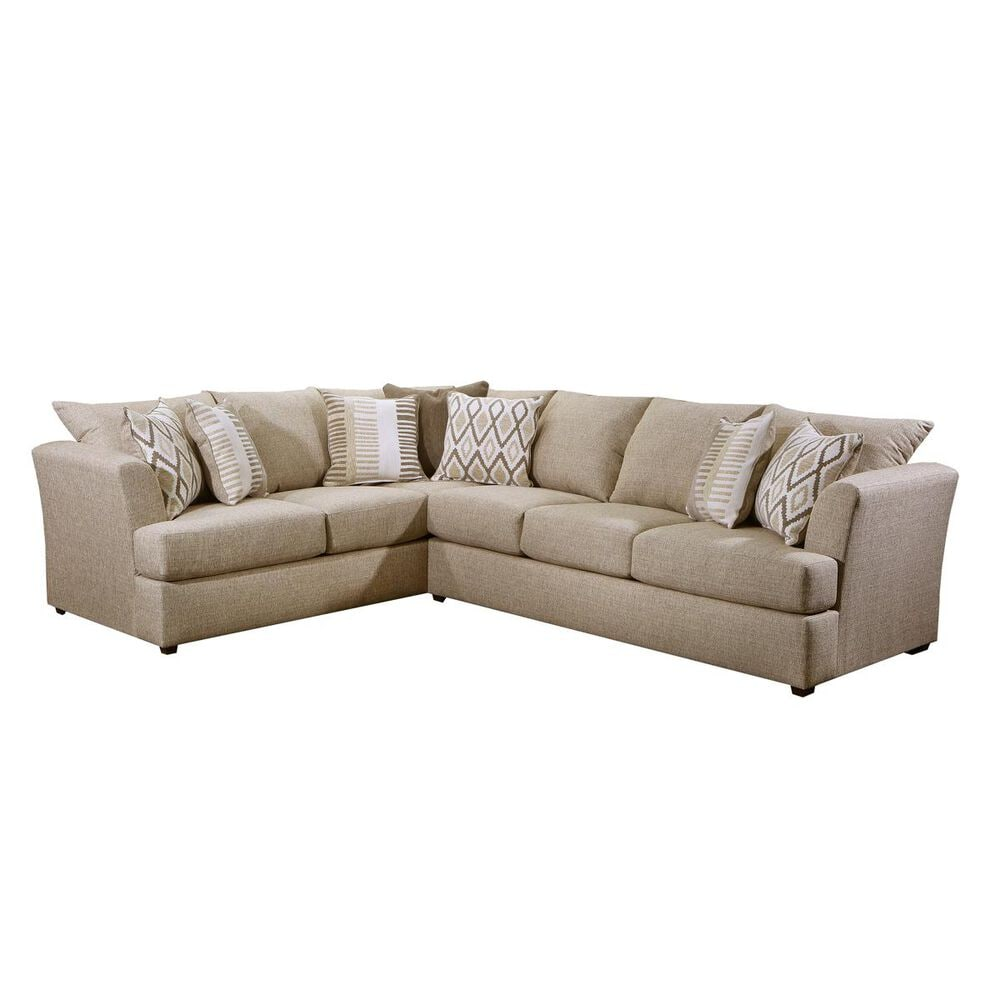 Simmons Upholstery 2-Piece Sectional in O'Connor Hemp, , large