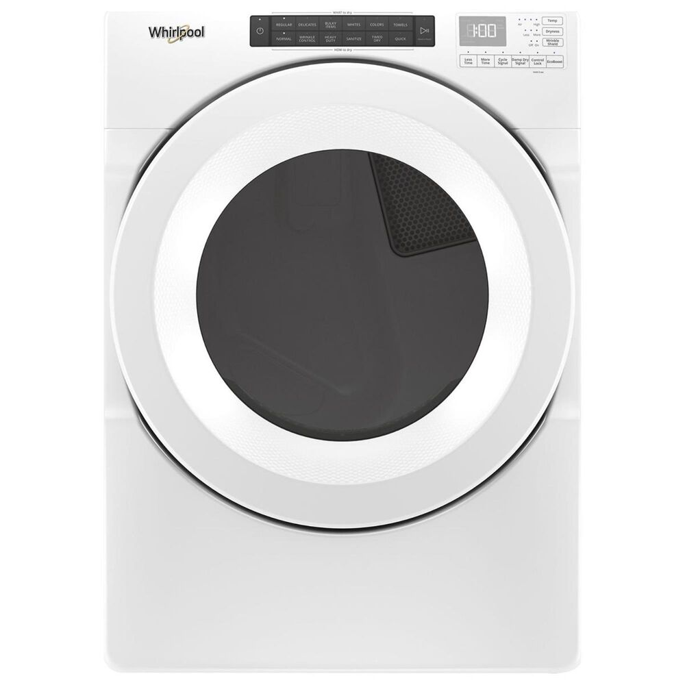 Whirlpool 4.5 Cu. Ft. Front Load Washer and 7.4 Cu. Ft. Electric Dryer in White, , large