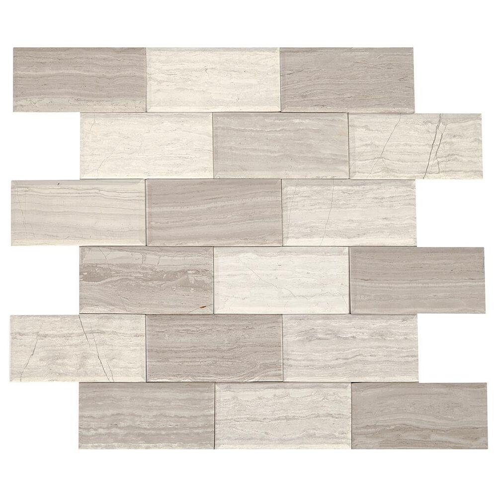 "Dal-Tile SimplyStick Chenille White 12""x12"" Bevel Mosaic Sheet, , large"