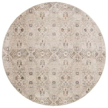 """Loloi Theia THE-06 7'10"""" Round Granite and Ivory Area Rug, , large"""