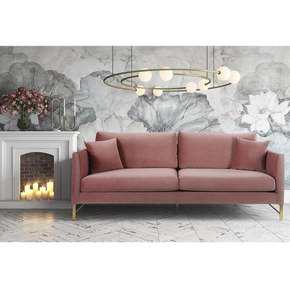 Tov Furniture Massi Velvet Sofa in Rose Velvet, , large