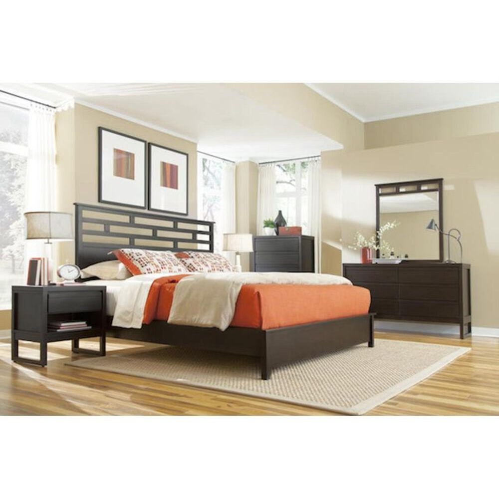 Tiddal Home Athena Queen Panel Bed in Dark Chocolate, , large