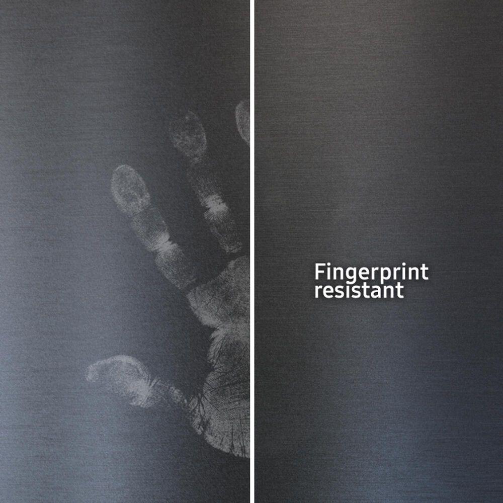 Samsung 28 Cu. Ft. 3-Door French Door Refrigerator with Family Hub in Fingerprint Resistant Black Stainless Steel, , large
