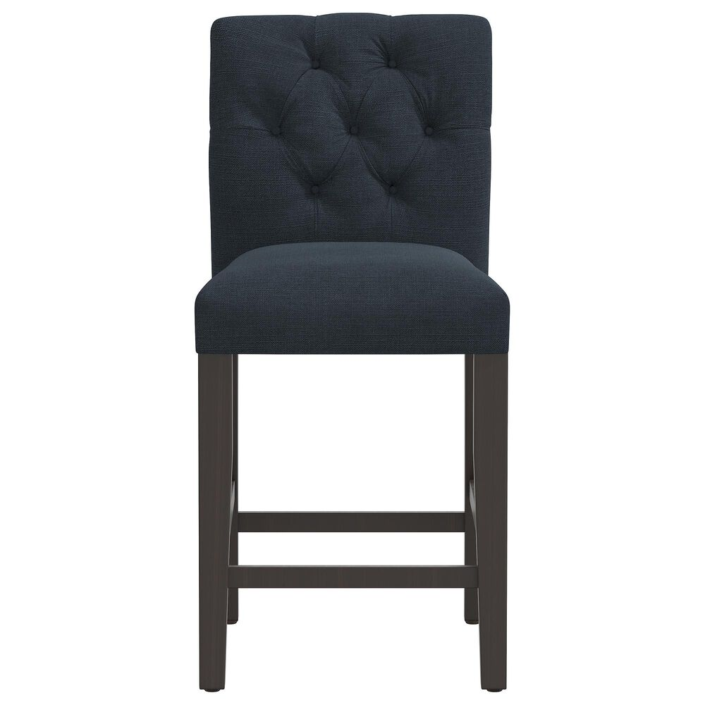 Skyline Furniture Counter Stool in Linen Navy, , large