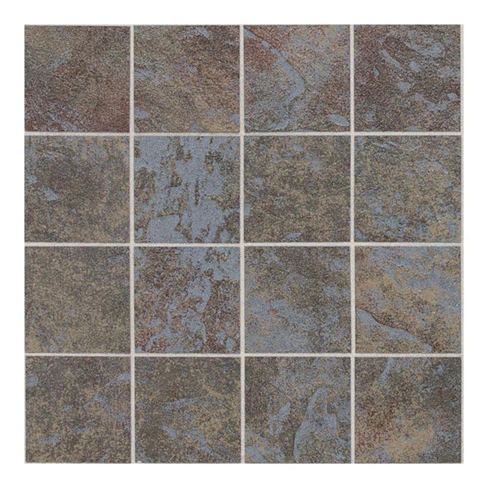 "Dal-Tile Continental Slate Tuscan Blue 12"" x 24"" Porcelain Mosaic Sheet, , large"