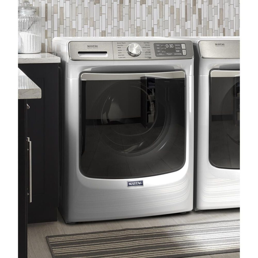 Maytag 5.0 Cu. Ft. Front Load Washer with Steam in White, , large