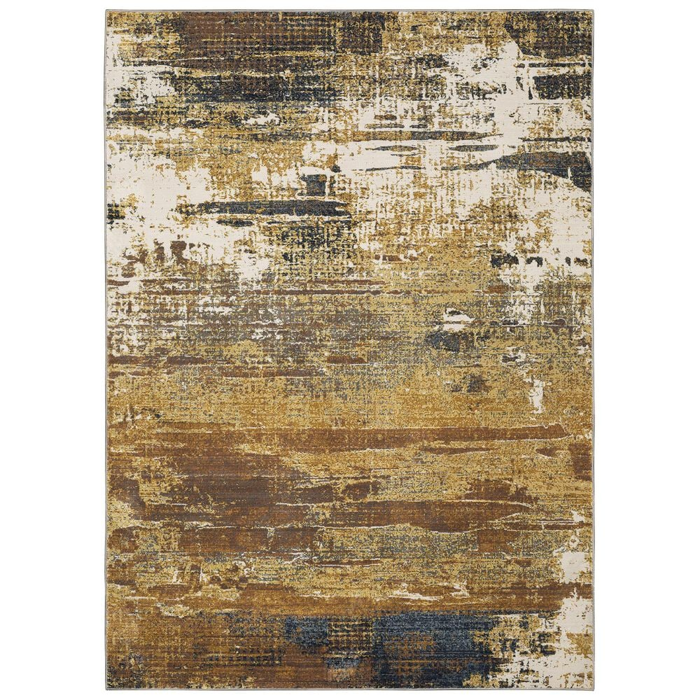 """Oriental Weavers Caravan Abstract Mixup 3'3"""" x 5' Gold and Beige Area Rug, , large"""