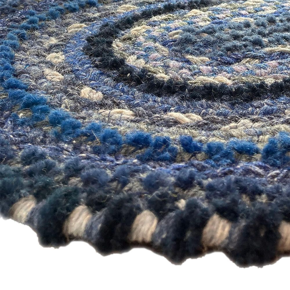 Capel Bayview 0036-470 3' x 5' Oval Twilight Blue Area Rug, , large
