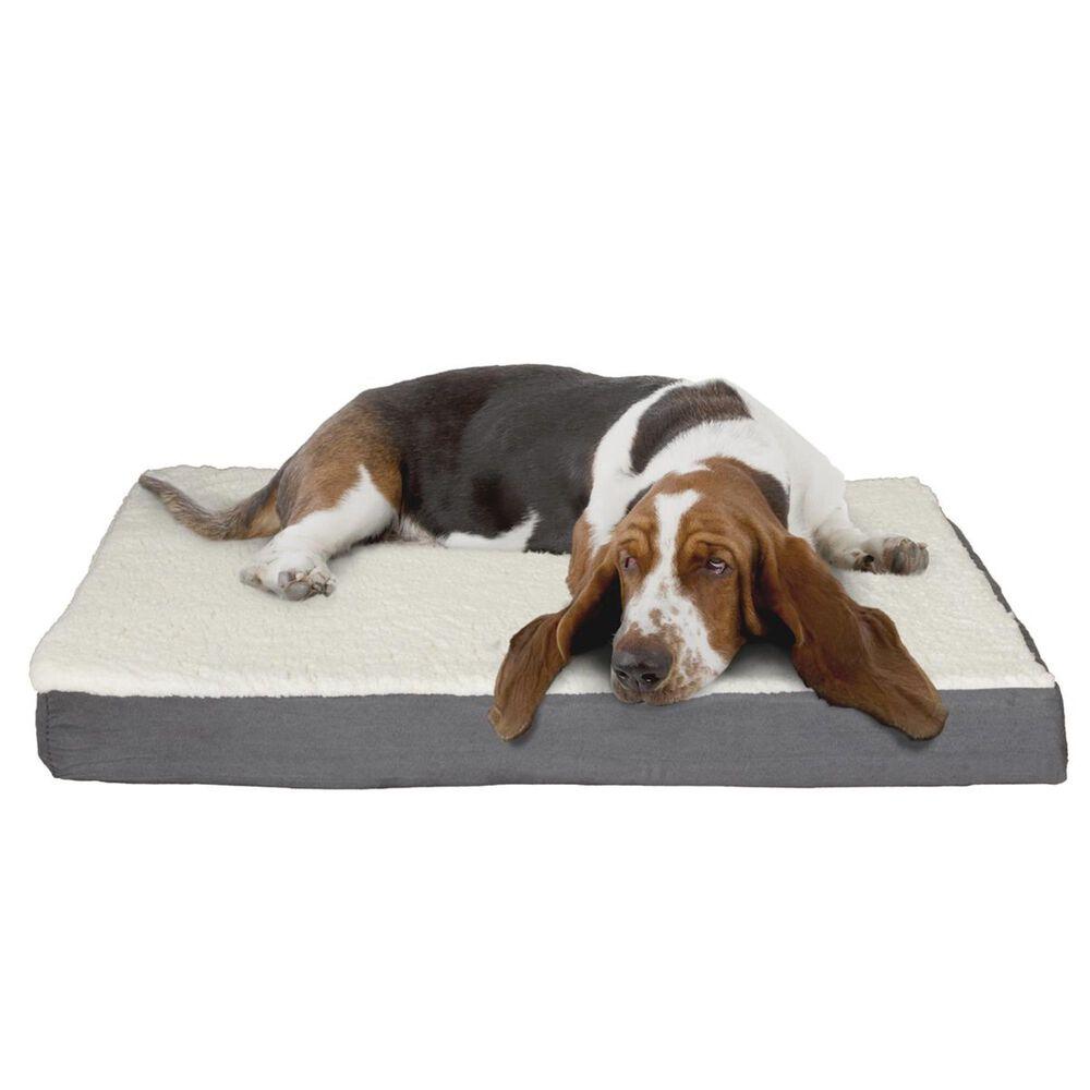 Timberlake Petmaker Medium Orthopedic Sherpa Top Pet Bed in Gray, , large