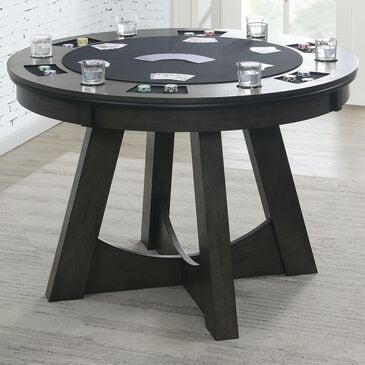 Mayberry Hill Prince Round Game Table in Grey, , large