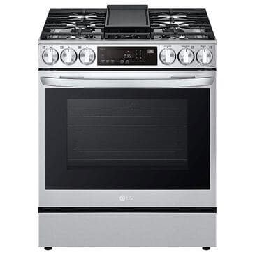 LG 6.3 Cu. Ft. Smart Wi-Fi Enabled ProBake Convection InstaView Slide-In Gas Range with Air Fry in Print Proof Stainless Steel, , large