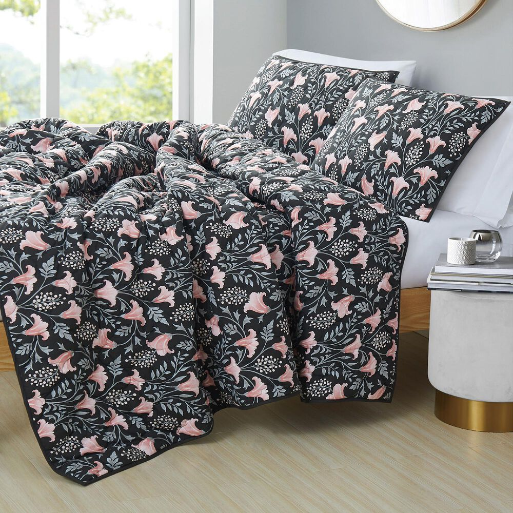 Pem America Galinda 2-Piece Twin/Twin XL Quilt Set in Black, , large
