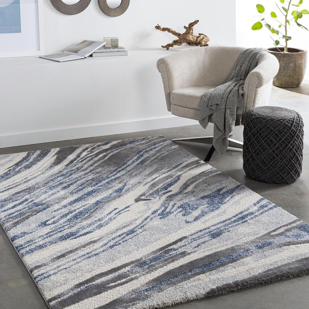 """Surya Cielo 5'3"""" x 7'3"""" Charcoal, Gray, White and Navy Area Rug, , large"""