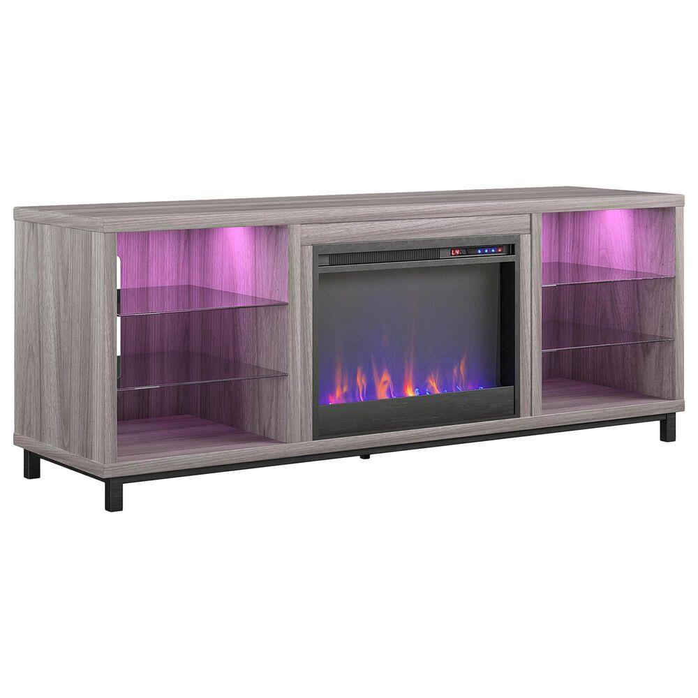 "DHP Lumina 65"" Fireplace TV Stand in Light Walnut, , large"