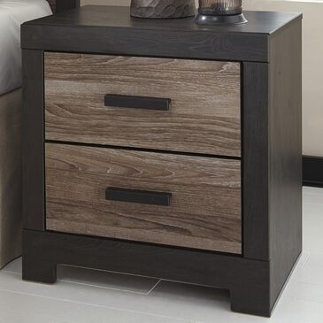 Signature Design by Ashley Harlinton 2-Drawer Nightstand in Warm Gray and Charcoal, , large