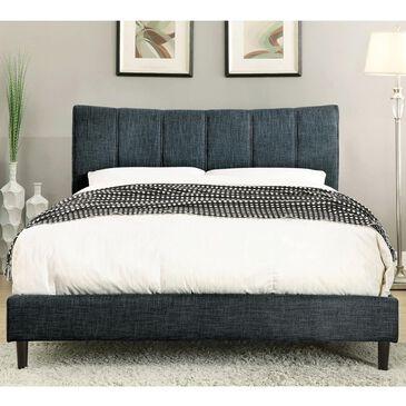 Furniture of America Davidson Full Platform Bed in Blue, , large