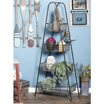 "Maple and Jade 65"" x 29"" 4-Tiered Storage Rack in Black, , large"