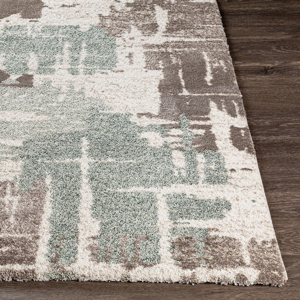 "Surya Cielo 3'6"" x 9'5"" Sage, Camel, White and Beige Area Rug, , large"