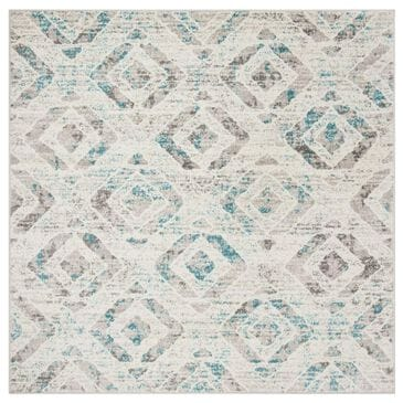 Safavieh Skyler SKY190D 4' Square Ivory and Blue Area Rug, , large