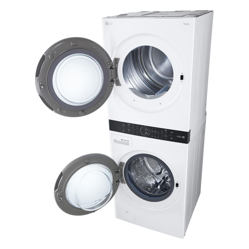 LG WashTower with Center Control 4.5 Cu. Ft. Washer and 7.4 Cu. Ft. Electric Dryer in White , , large