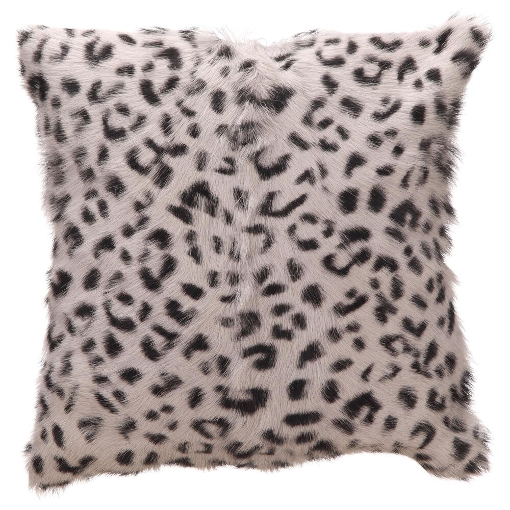 Moe's Home Collection Goat Fur Pillow in Gray, , large