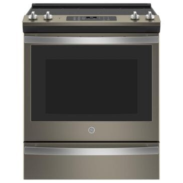 """GE Appliances 30"""" Slide-In Electric Convection Range with No Preheat Air Fry in Slate, , large"""