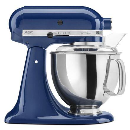 Blue kitchenaid stand mixer